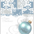 Stock Vector: Christmas balls. Blue Background. Vector drawing