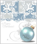 Christmas balls. Blue Background. Vector drawing — Stock Vector