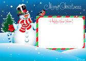 Kerstkaart. merry christmas belettering voor uw ontwerp — Stockvector