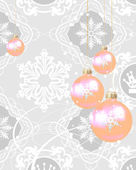 Christmas decorations. Vector drawing — Vecteur