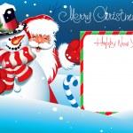 Christmas Card. Merry Christmas lettering. — Stock Vector #12482804