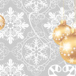 Christmas decorations on a gray background — Stock Vector