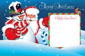Christmas Card. Merry Christmas lettering. — Stock Vector