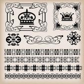 Vector set. Vintage Elements for your design. — Stock Vector