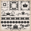 Decorative elements. Vintage — Stock Vector