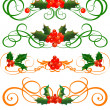 Holly. Vector Set . — Stock Vector