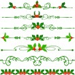 Holly. Vector Set . Christmas — Stock Vector