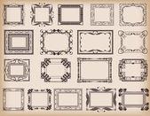 Conjunto de vectores. marco. elementos vintage para su diseño. — Vector de stock