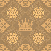 Seamless Vintage. Wallpaper Pattern. — Stock Vector