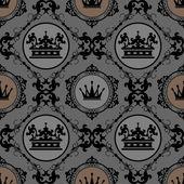Vintage inconsútil. patrón de papel tapiz. — Vector de stock