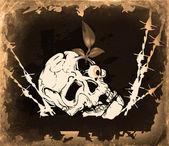Background skull. Retro — Stock Photo