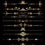 Vector set. Ornamental Rule lines. — Stock Vector #17271365