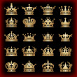 Royalty-Free Stock Vectorafbeeldingen: Crown. Gold set. Collection icons. Vector.