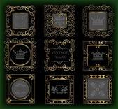 Vector set. Frame. Vintage Elements for your design. — Stock Vector