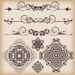Vector set. Victorian Scrolls and crown. - Stockvectorbeeld