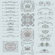 Stock Vector: Vector set. Victorian Scrolls. Decorative elements