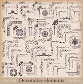 Decorative elements. Angle design. Vector image. Vintage. — Stock Vector