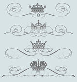 Vector set. Victorian Scrolls. Decorative elements — Stock Vector