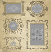 Vector set. Vintage Elements for your design. Retro. — Stock Vector