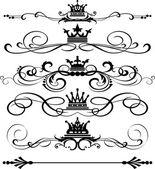Vector set. Victorian Scrolls. Decorative elements — Stock Vector