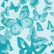 Stock Vector: Butterflies Seamless. Wallpaper Pattern.