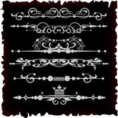 Vector set. Victorian Scrolls. Decorative elements for your design. — Stock Vector