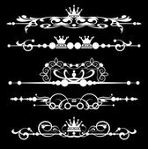 Vector set. Victorian Scrolls — Stock Vector