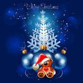 Fondo de navidad. ilustración vectorial abstracto. — Vector de stock