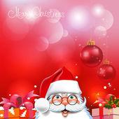 Christmas Background. Abstract Vector Illustration. Santa claus — Stock Vector