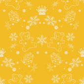 Seamless Pattern. Abstract Christmas Background. Vector Illustration for your design. — Stock Vector