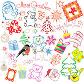 Christmas elements for your design. Merry christmas. Happy new year. — Stock Vector
