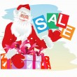 Christmas sale. Santa Claus — Stock Vector
