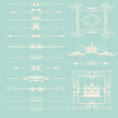 Conjunto de vetores. elementos de desenho caligráfico. — Vetor de Stock