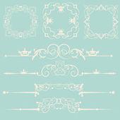 Vector set. Calligraphic design elements. — Stock Vector