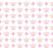 Damask decorative wallpaper for walls vintage seamless patterns — Stock Vector