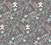 Happy Birthday seamless pattern texture background paper for packing gifts — Stock Vector