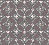 Damask decorative wallpaper for walls vector vintage seamless patterns — Stock Vector