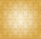Damask decorative wallpaper. vector vintage pattern. — Vettoriale Stock