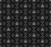 Damask decorative wallpaper for walls vintage seamless patterns — Stock Photo