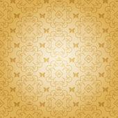 ダマスク織の装飾的な壁紙です。ビンテージ パターン ベクトル. — ストックベクタ