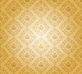 Retro illustration damask decorative wallpaper. vector vintage pattern. — Stock Vector