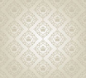 Damask decorative wallpaper. vector vintage pattern. abstract background — Stock Vector