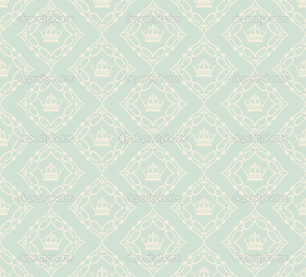 Papel pintado decorativo ilustraci n retro damasco para for Precio papel pared decorativo