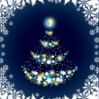 Christmas Tree. Vector Illustration. — Imagen vectorial