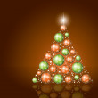 Christmas Tree. Vector Illustration. — Image vectorielle