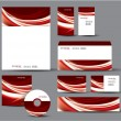 Modern Identity Package. Vector Design. Letterhead, business cards, cd, dvd, envelope, banner, header. — Stock Vector