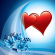 Valentine Day Background. Vector Illustration. Hearts. — Imagen vectorial