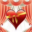 Valentine Day Background. Vector Illustration. Heart. — Imagen vectorial