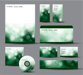 Modern Identity Package. Vector Design. Letterhead, business cards, cd, dvd, envelope, banner, header. — ストックベクタ