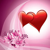 Valentine Day Background. Vector Illustration. Hearts. — Stock Vector